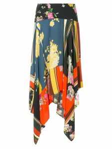 Preen Line multi-print asymmetric skirt - Multicolour