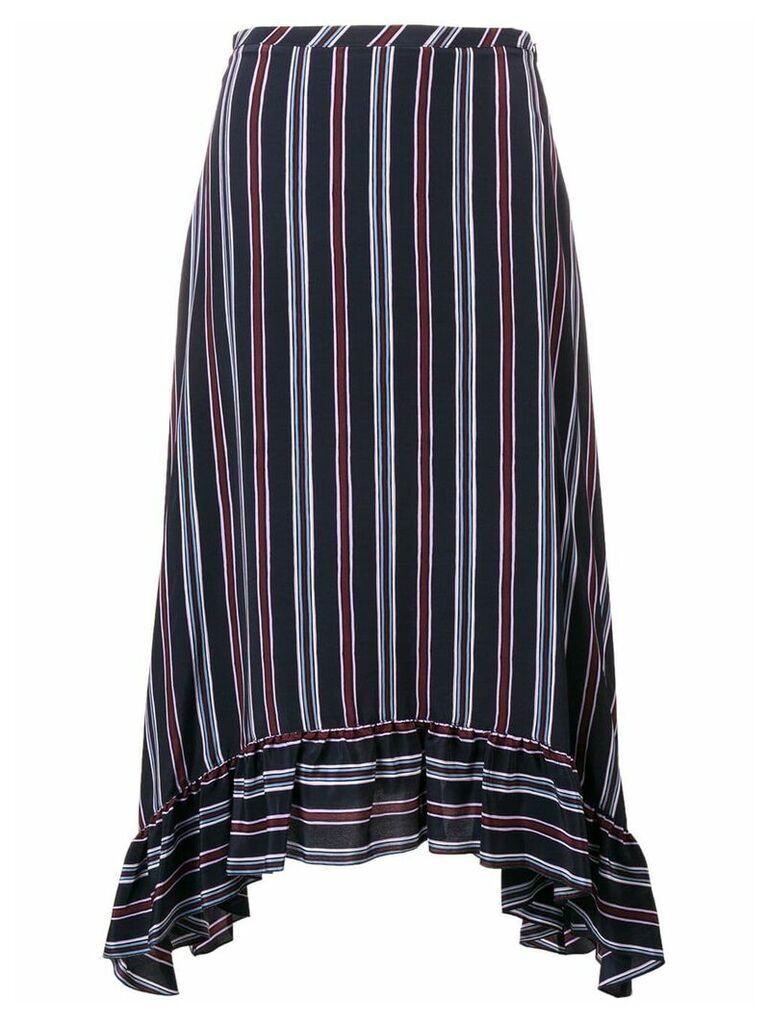 See By Chloé striped asymmetric skirt - Blue