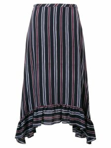 See By Chloé striped asymmetric skirt - Blue