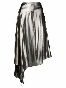 Givenchy asymmetrical mid-length skirt - Metallic