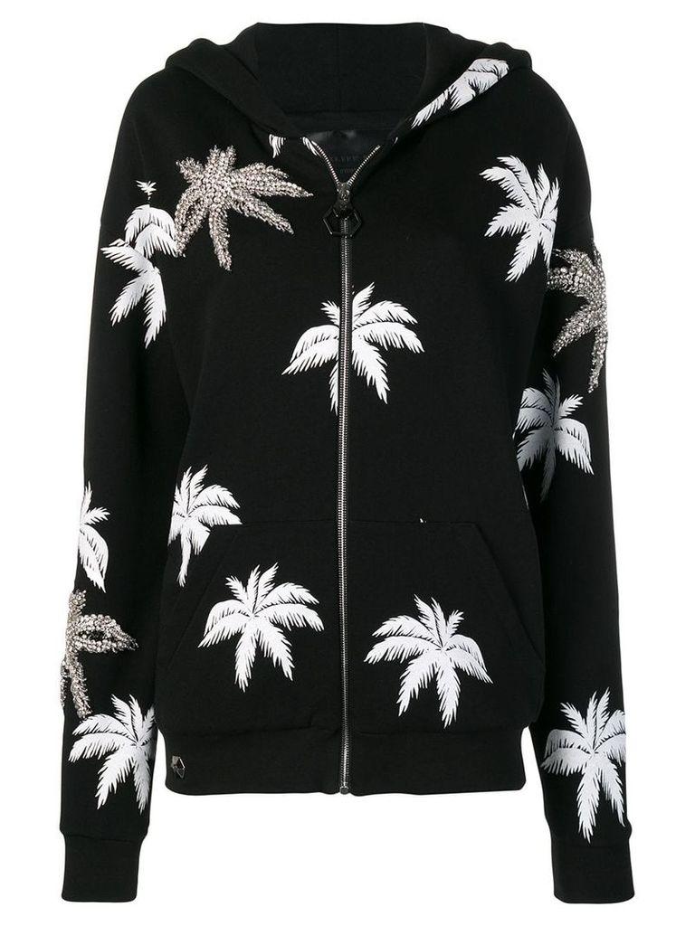 Philipp Plein Aloha Plein embellished hoodie - Black