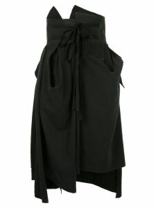 Aganovich gathered and draped skirt - Black
