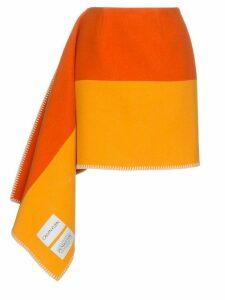 Calvin Klein 205W39nyc striped blanket skirt - Orange