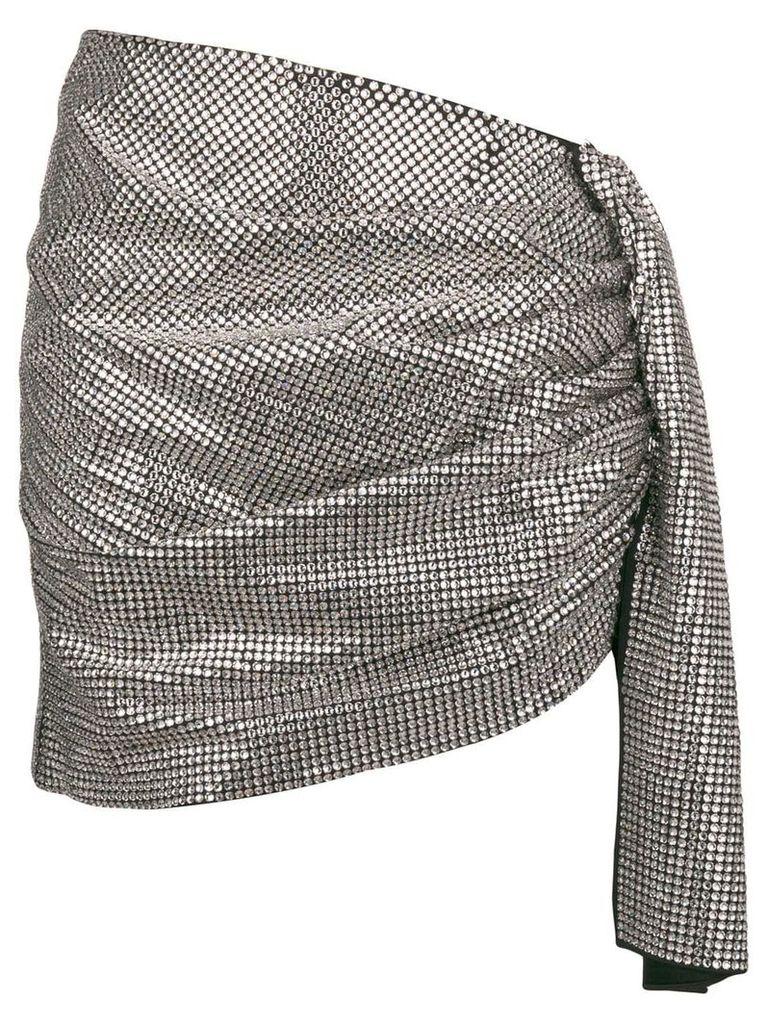 Magda Butrym gathered asymmetric skirt - Metallic