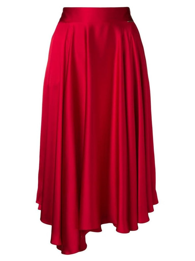 Styland asymmetric midi skirt - Red