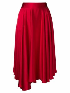 Styland asymmetric midi skirt - Red