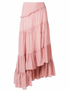 3.1 Phillip Lim ruffled asymmetric skirt - Pink