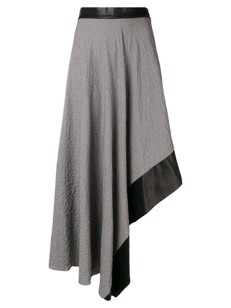 Loewe houndstooth asymmetrical skirt - Black