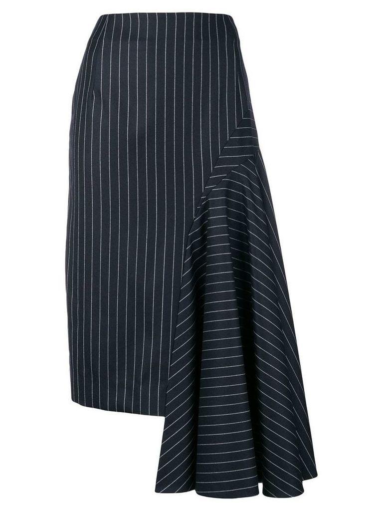 Thom Browne draped chalk stripe skirt - Blue