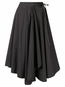 Lemaire asymmetric napkin skirt - Grey