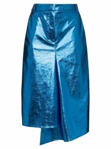 Tibi draped midi pencil skirt - Blue