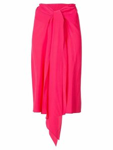 Tome draped midi skirt - Red