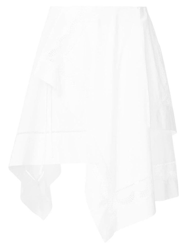 3.1 Phillip Lim asymmetric flared skirt - White