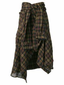 Faith Connexion high-waisted shirt-skirt - Brown