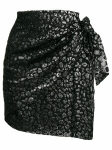 Iro leopard pattern skirt - Black