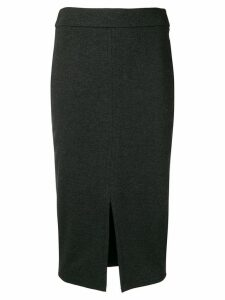 Peserico front slit skirt - Grey