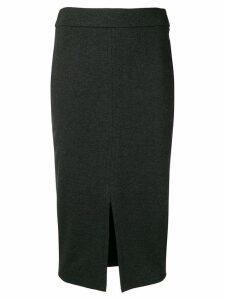 Peserico front slit skirt - Grey