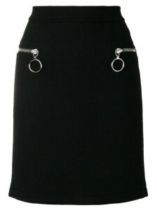 Moschino zipped pocket skirt - Black