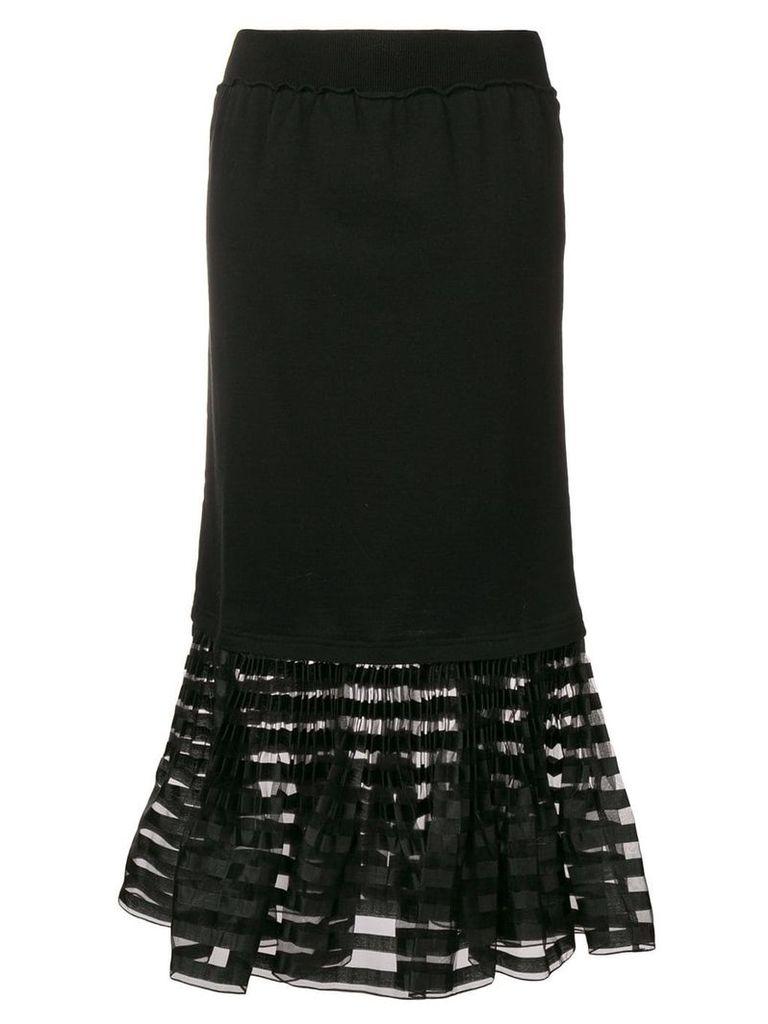 JW Anderson pleated hem skirt - Black