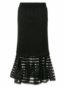 JW Anderson pleated hem skirt - Black