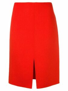 Odeeh front slit skirt - Red
