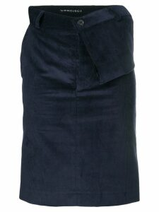 Y/Project asymmetric draped waist skirt - Blue