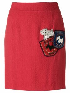 Boutique Moschino bead embroidered dog pocket skirt