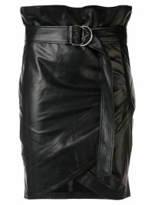 Iro belted fitted skirt - Black