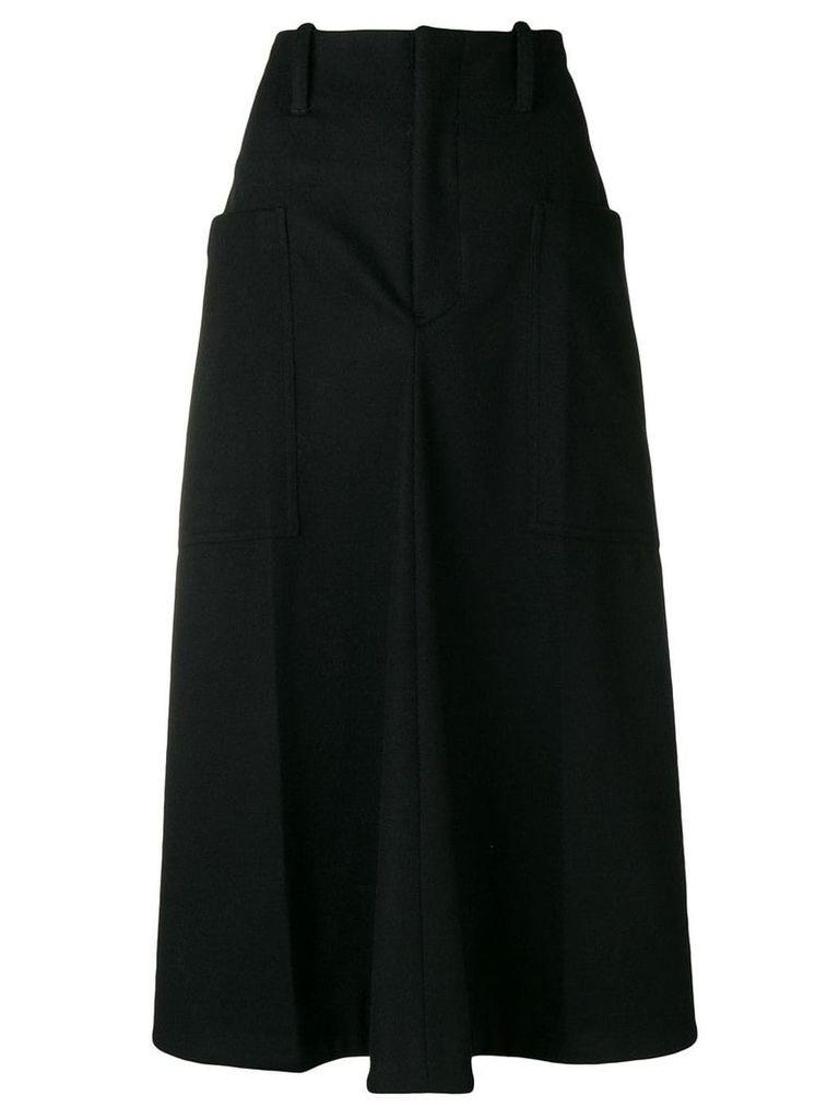 Y's flared midi skirt - Black