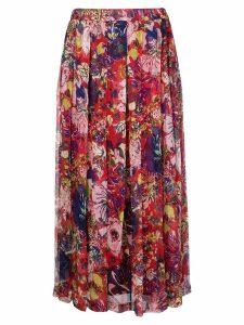 Aspesi floral printed skirt - Red