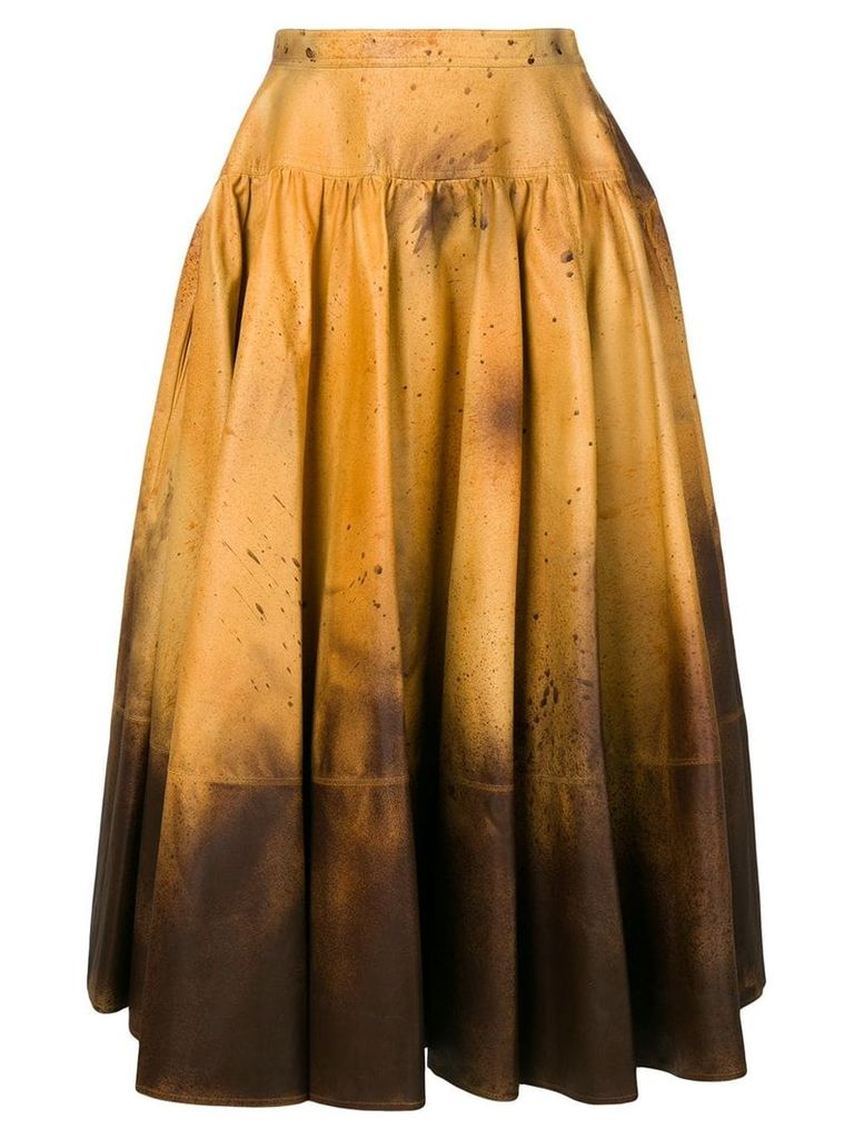 Calvin Klein 205W39nyc distressed look full skirt - Multicolour