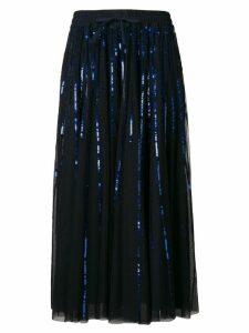 P.A.R.O.S.H. sequinned tulle skirt - Blue