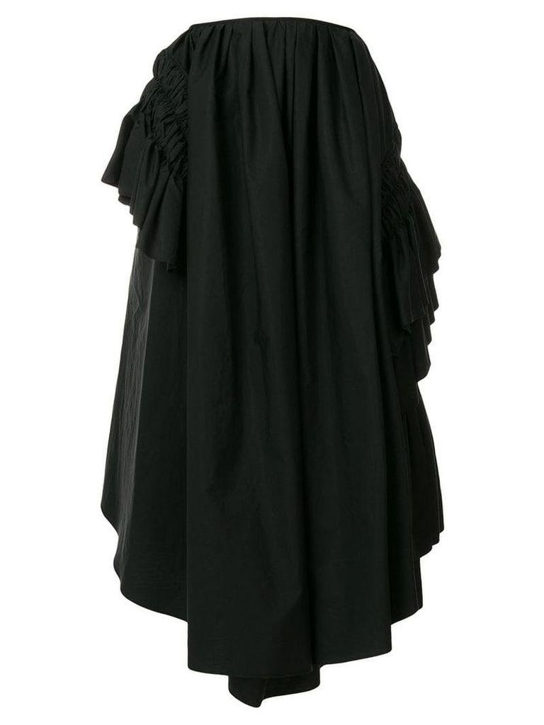 Jil Sander ruched puff midi skirt - Black