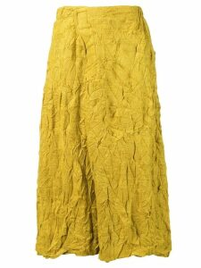 Plantation crease effect skirt - Yellow
