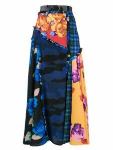 MSGM patchwork printed skirt - Blue