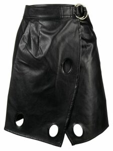 Self-Portrait eyelet skirt - Black