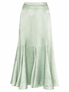 Sies Marjan Holly high waisted satin midi skirt - Green