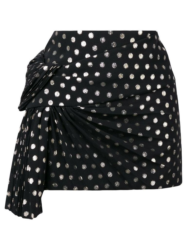 Saint Laurent lamé polka dot skirt - Black