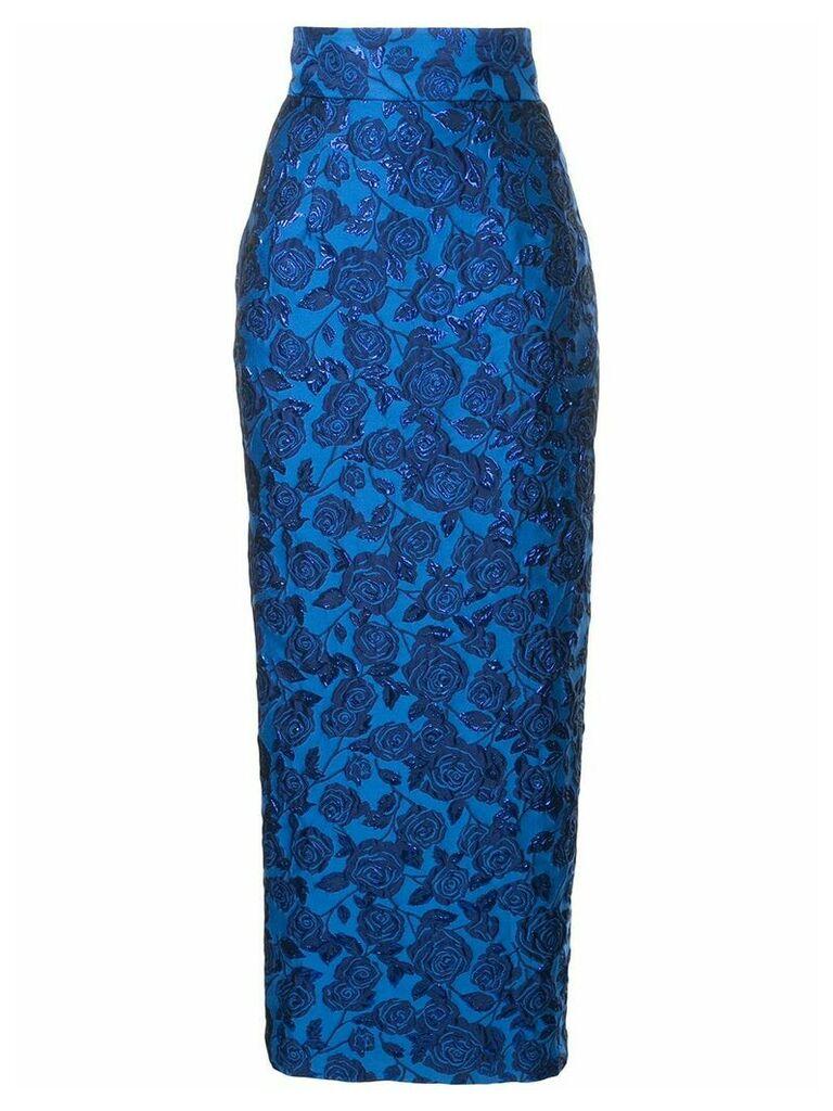 Bambah Bellflower pencil skirt - Blue
