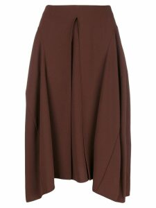 Chloé pleated front midi skirt - Brown