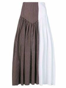 Atelier Bâba two-tone gathered skirt - Brown