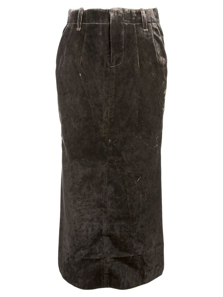 Uma Wang two tone skirt - Brown