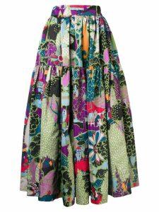 La Doublej scenery print skirt - Green