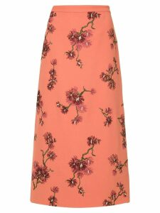 Erdem floral midi skirt - PINK
