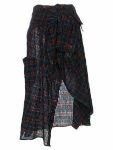 Faith Connexion high waisted shirt midi skirt - Red