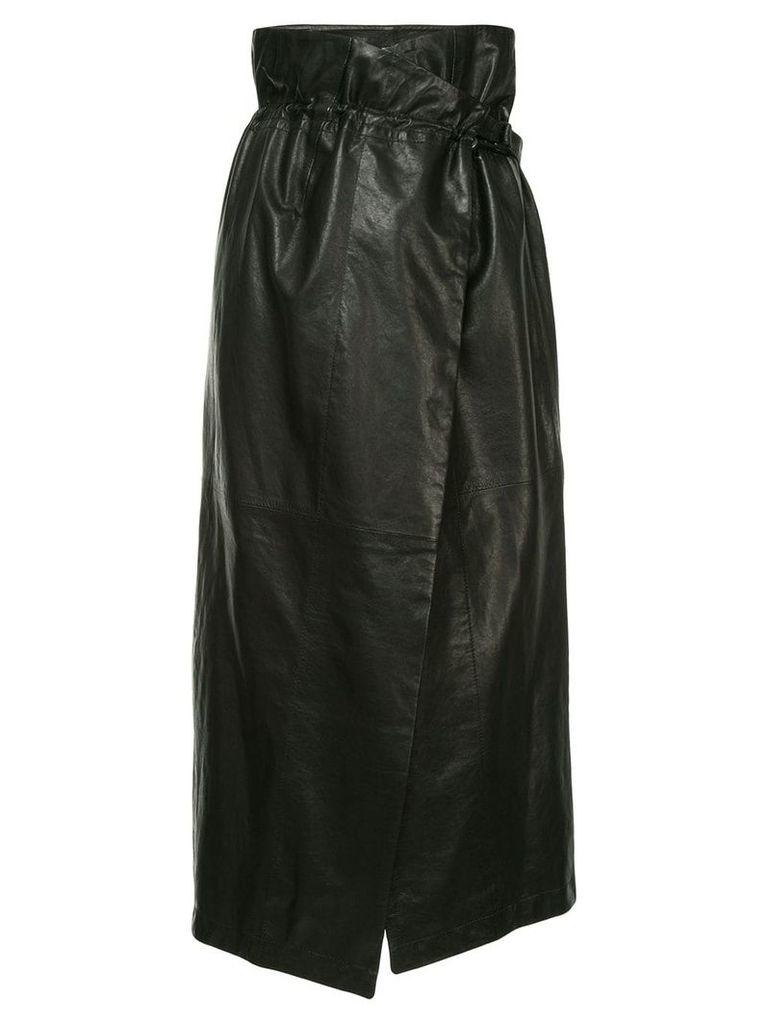 Ann Demeulemeester high-waisted wrap skirt - Black