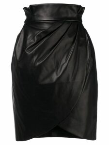 Versace high-waist wrap skirt - Black