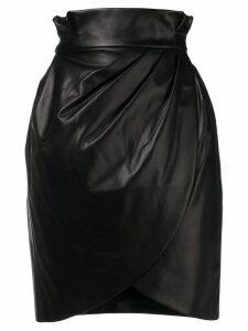Versace high-waist wrap skirt - Black