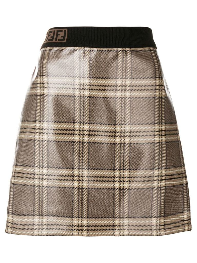 Fendi marble print skirt - Neutrals