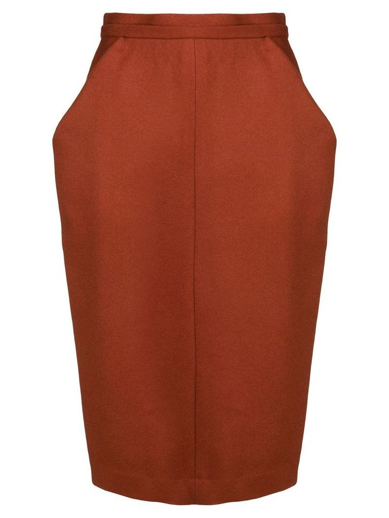 Chalayan nip waist skirt - Red